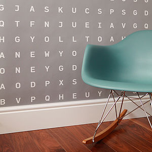 Personalised Word Search Wallpaper - living room