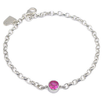 Ruby Bracelet July Birthstone