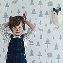 Into The Wild Nursery Wallpaper Grey/Green