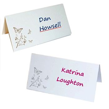 Butterfly Place Cards For Weddings & Parties