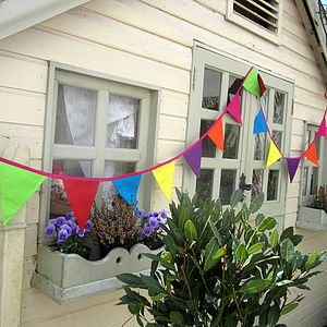 Bright Colourful Summer Bunting - bunting & garlands