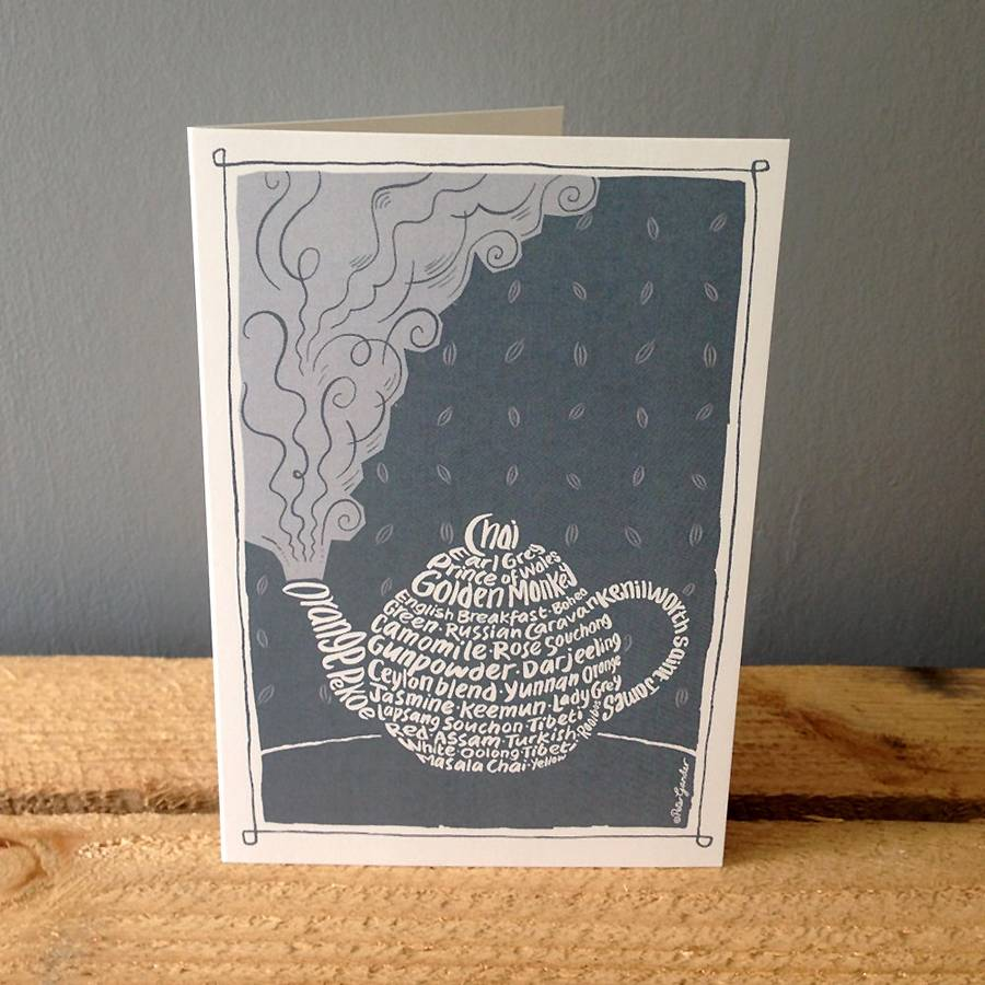 Teapot Greetings Card