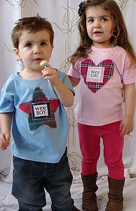 Wee Boy And Wee Girl Scottish T Shirt