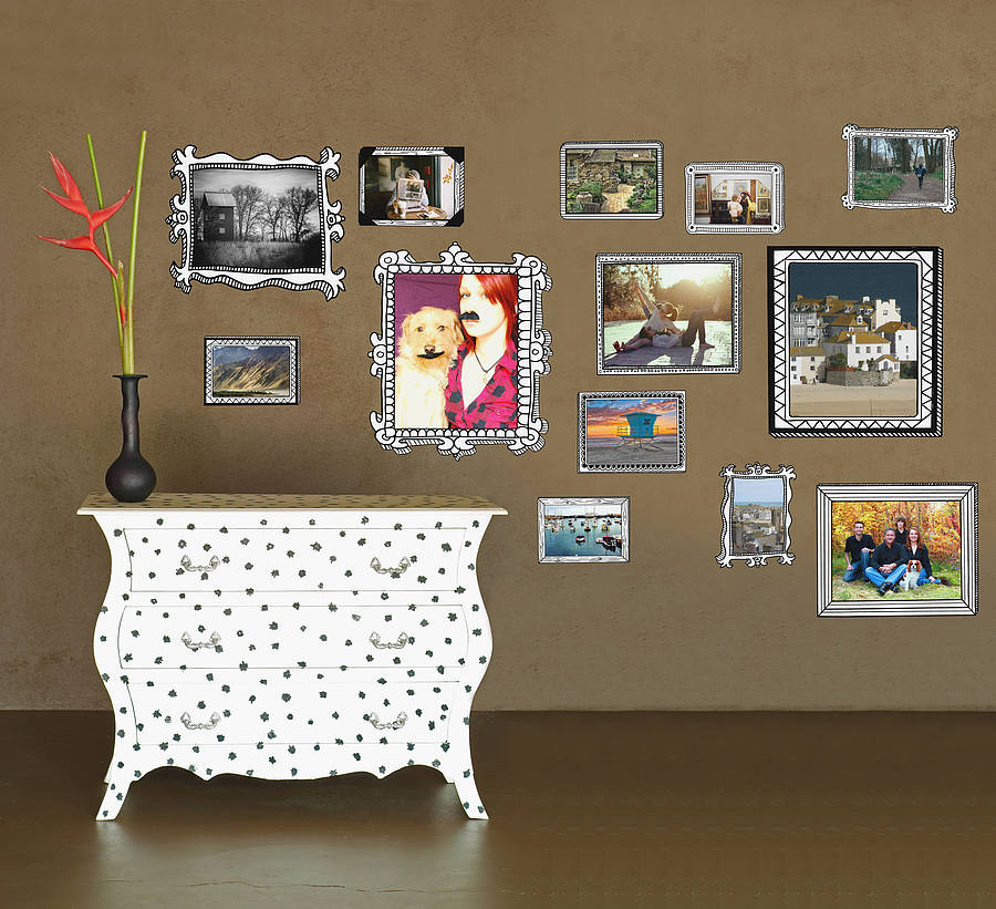 photo frames wall stickers by the binary box ...