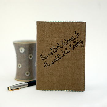 Personalised Linen Notebook