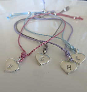 Personalised Heart Friendship Bracelet