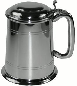 Personalised Pewter Tankard With Lid - tableware