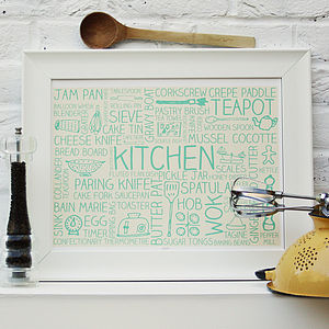 Kitchen Printed Poster - gifts for the home