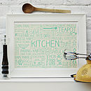 Kitchen Printed Poster