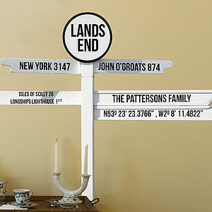 Personalised Sign Post Wall Sticker