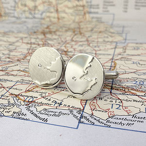 Diamond London Cufflinks - cufflinks