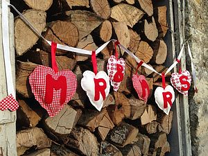 Hand Stitched 'Mr And Mrs' Fabric Bunting - outdoor decorations