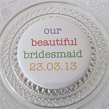 Personalised Wedding Thank You Mirror Favours