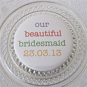 Personalised Wedding Thank You Mirror Favours - bridesmaid gifts