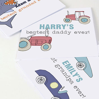 Card For Dad Or Grandad From Your Child