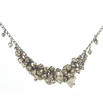 Pyrite Single Cluster Necklace