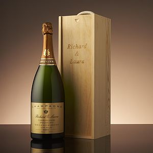 Personalised Anniversary Champagne Magnum Box - anniversary gifts