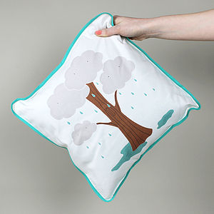 Cloud Tree Cushion Cover - cushions