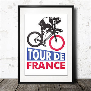 Tour De France Cycling Poster - i want to ride my bicycle