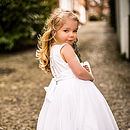 Sarah Tulle Dress Ballerina Length White