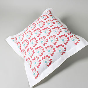 Coral Peacock Cushion Cover - cushions