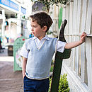 Boy's Cotton Cashmere Slipover