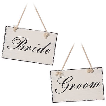 'Bride And Groom' Plaques