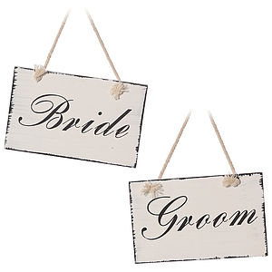 'Bride And Groom' Plaques - parties