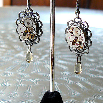 Filigree Watch Movement Earrings
