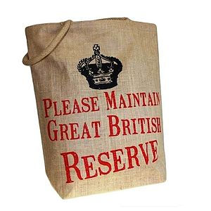 'Great British Reserve' Jute Shopping Bags