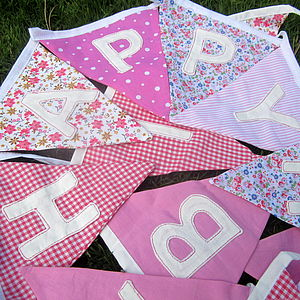 'Happy Birthday' Bunting - personalised