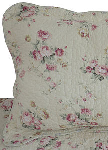 Rose Quilted Square Pillowcase - bedroom
