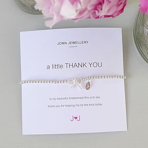Bridesmaid 'Thank You' Bracelet