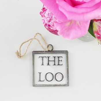 'The Loo' Mini Glass Sign