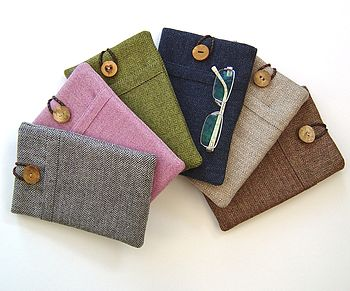 ipad mini tweed case in silver grey, pink, grass green, navy blue, creamy beige and chestnut brown