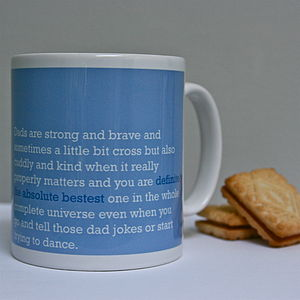'Definitely The Absolute Bestest' Dad Mug - crockery & chinaware