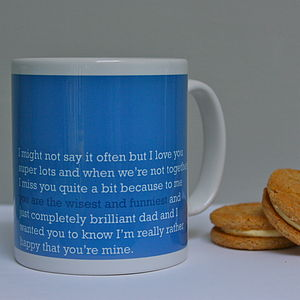 'You Are The Wisest And Funniest' Dad Mug - tableware