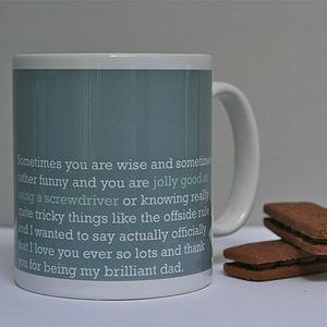 'Jolly Good At Using A Screwdriver' Dad Mug