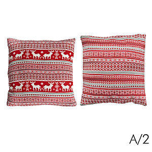 Two Knitted Scandi Chic Cushions - cushions