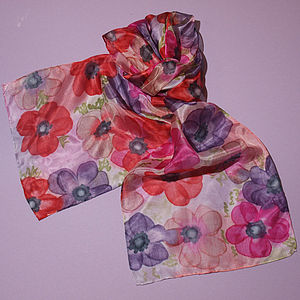 Anemones Scarf - hats, scarves & gloves