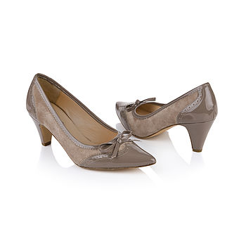 Florence Patent And Suede Leather Shoes