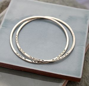 Personalised interlinking bangles - women's jewellery