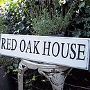 Personalised Vintage Style Wood House Sign