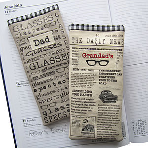 Men's Glasses Case - given with love...