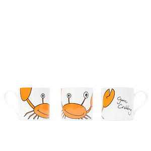 Big Crab Bone China Mug - dining room