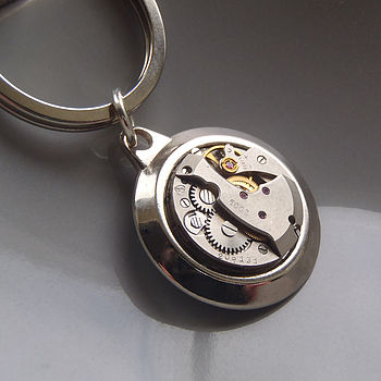 Vintage Watch Movement Keyring