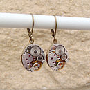 Vintage Watch Movement Earrings By EVY Designs Ltd
