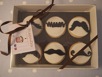 Homemade Shortbread Moustache Biscuits Gifts