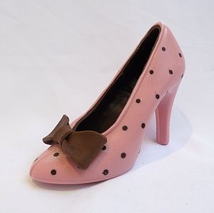 Large Chocolate Shoe Pink Polka Dot - novelty chocolates