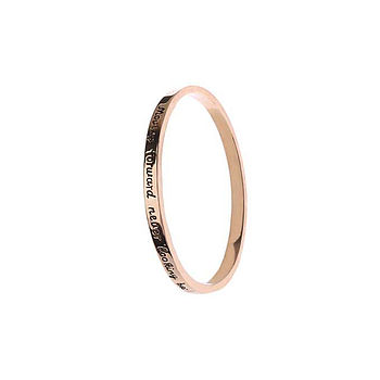 'Moving Forward Never Look Back' Bangle